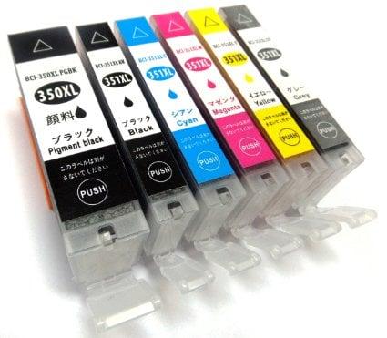 キヤノン 互換インク 【BCI-351XL+BCI-350XLマルチパック※大容量 canon互換インク】6色セット【ICチップ付】
